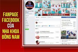 fanpage facebook của nha khoa đông nam