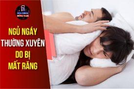 ngáy ngủ thường xuyên do bị mất răng