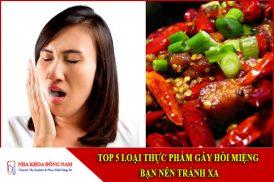 thực phẩm gây hôi miệng
