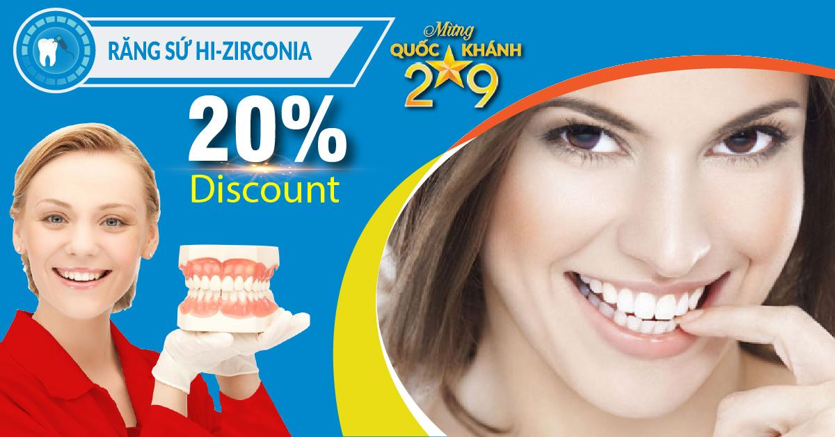 Chương trình Khuyến mãi Bọc răng sứ cao cấp