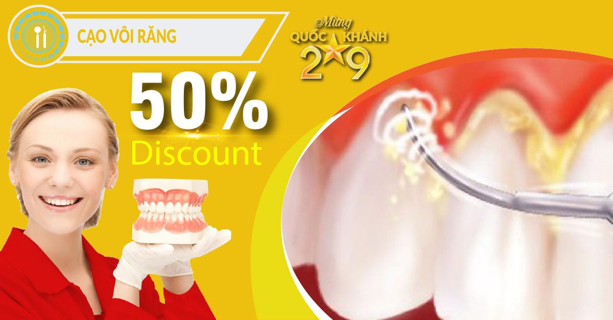 Chương trình Khuyến mãi cạo vôi răng nhân dịp quốc khánh 2/9/2018