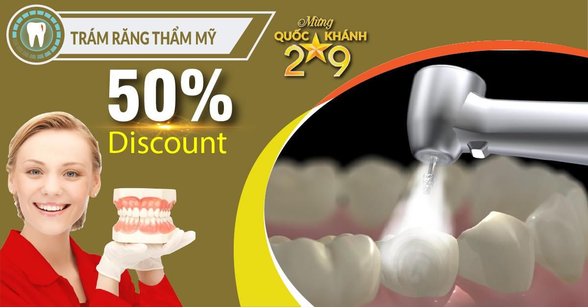 Chương trình Khuyến mãi trám răng nhân dịp quốc khánh 2/9/2018