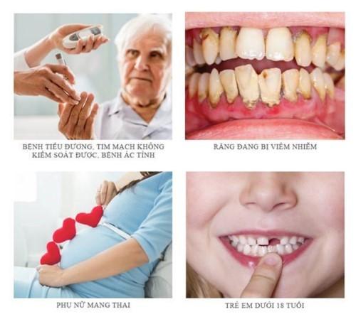trường hợp chống chỉ định cấy implant