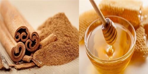 mật ong và bột quế