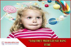 thực phẩm gây sâu răng ở trẻ