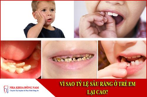 vì sao tỉ lệ sâu răng ở trẻ em lại cao