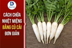 cách chữa nhiệt miệng bằng củ cải đơn giản