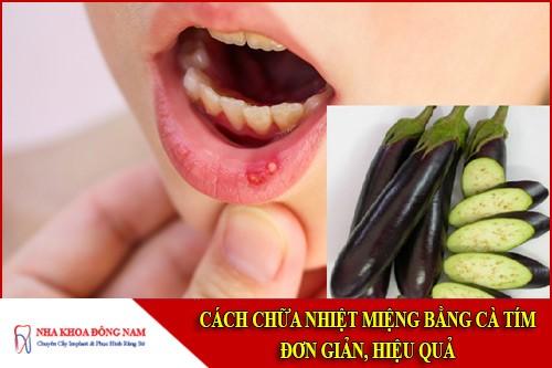 cách chữa nhiệt miệng với cà tím
