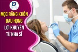 Mọc răng khôn đau họng