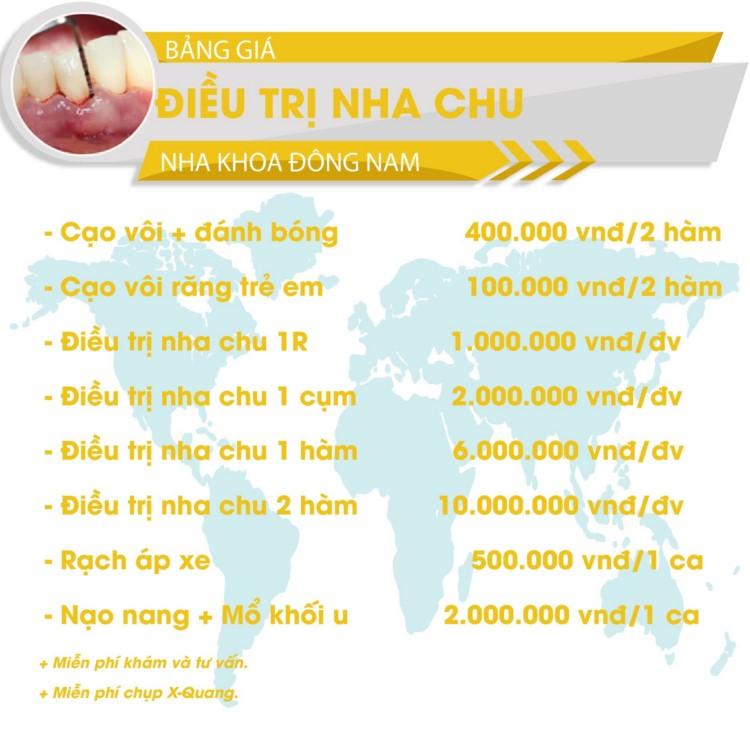 bảng giá cạo vôi răng