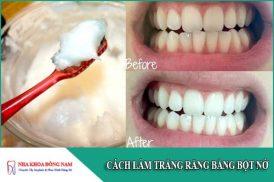 Cách làm trắng răng bằng bột nở