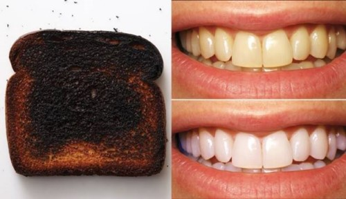 mẹo làm trắng răng với bánh mì cháy