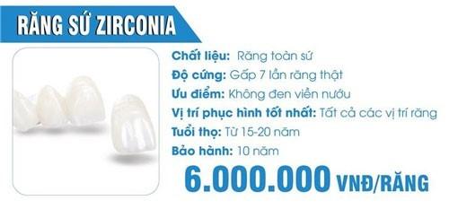 đặc điểm của răng sứ zirconia