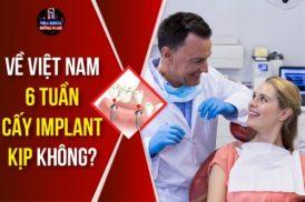 Về Việt Nam 6 tuần cấy Implant kịp không?