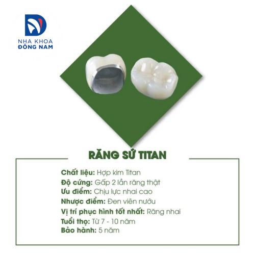 đặc điểm của răng sứ titan