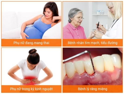 trường hợp chống chỉ định nhổ răng tạm thời