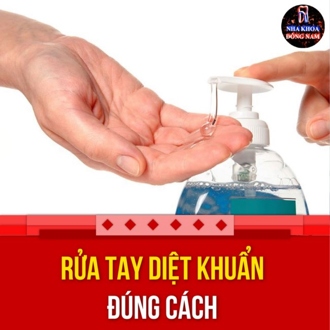 rửa tay diệt khuẩn