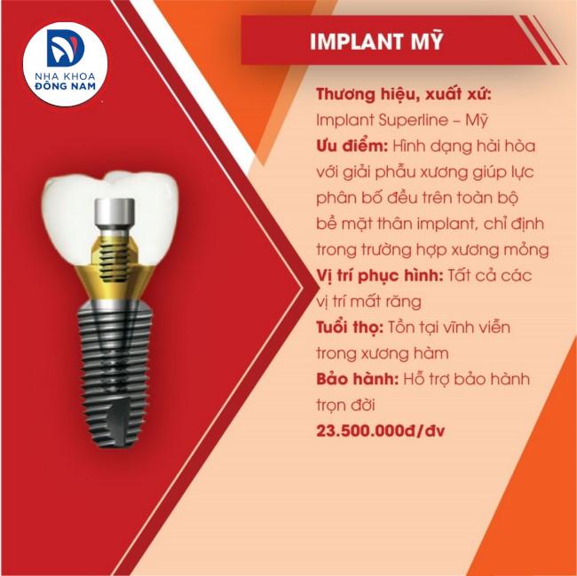 implant mỹ giá bao nhiêu