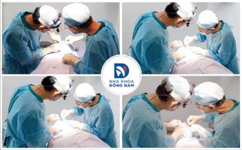 đội ngủ bác sĩ trồng răng implant /m/02pc93z tại nha khoa đông nam