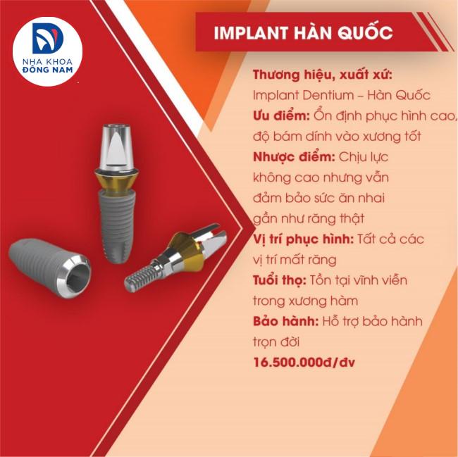 implant hàn quốc dentium