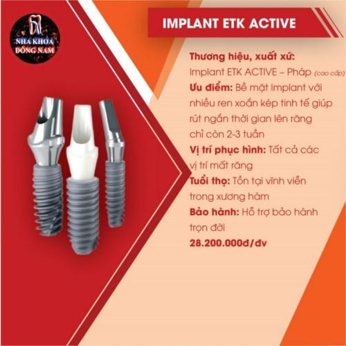 đặc điểm của implant etk active