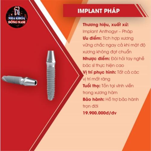 đặc điểm của implant pháp anthorgy