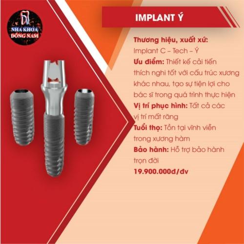 đặc điểm của implant ý c-tech