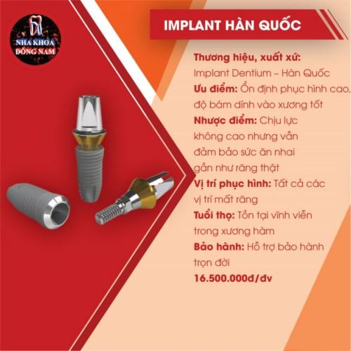 đặc điểm của implant hàn quốc