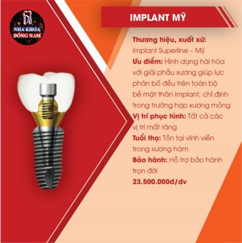 đặc điểm của implant mỹ superline