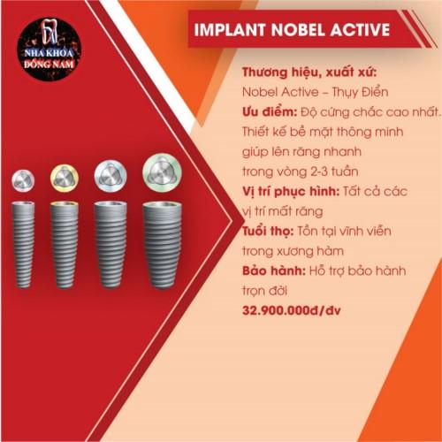 đặc điểm của implant nobel active