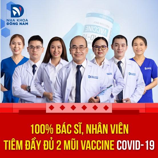 Bác sĩ và nhân viên nha khoa đã được tiêm 2 mũi vaccine