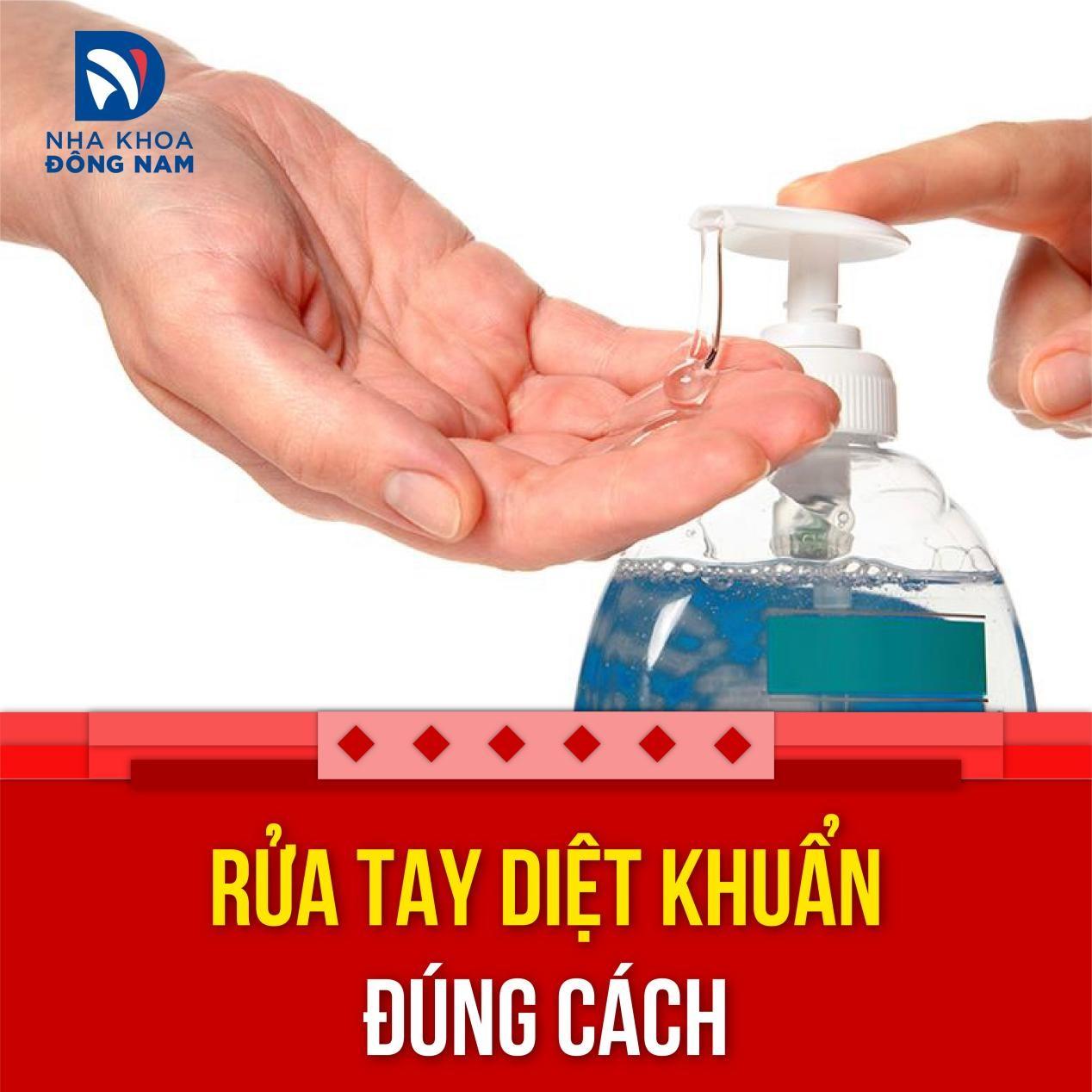 Tuân thủ rửa tay diệt khuẩn đúng cách